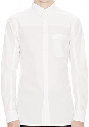 Helmut Lang Luxe Shirting Pocket Men's Shirt: US$255.