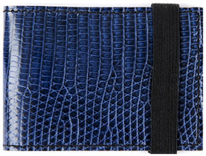 Jac Henri Monaco Genuine Blue Lizard Wallet: US$255.