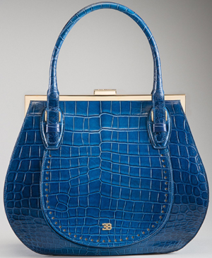 Bugatti Blue Crocodile Leather Handbag: €25,000.