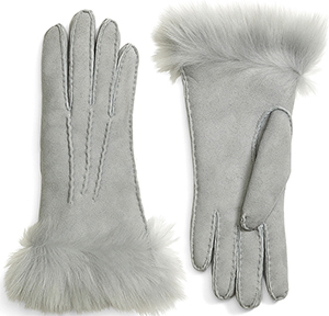 Brooks Brothers Women's Shearling Gloves: US$268.