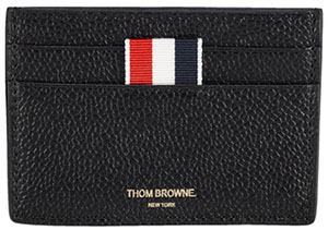Thom Browne Leather Credit Card Wallet: US$270.