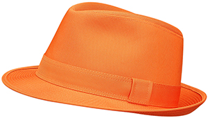 Hermès men's hat in pumpkin cotton, linen canvas lining: US$475.