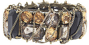 Lane Bryant Chain Wrapped Stone Stretch Bracelet: US$34.95.