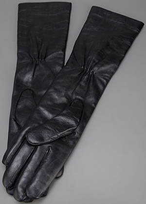 Ann Demeulemeester long leather gloves: €370.