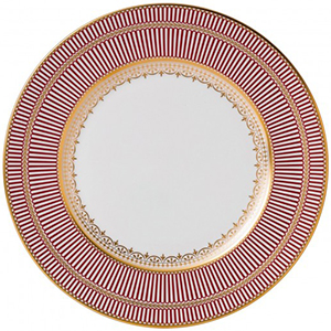 Wedgwood & Bentley Anthemion Ruby Dinner Plate: US$280.