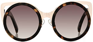 Erdem Tortoiseshell & Gold women's sunglasses: £245.