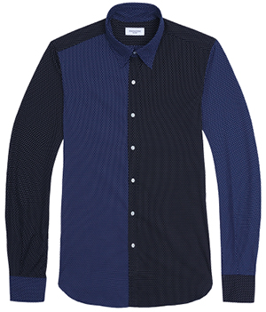 Ovadia & Sons Midwood Paneled Printed men's shirt: US$285.