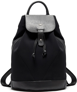 Alberto Guardini Backpack in Calfskin Leather and Scuba Fabric: US$286.