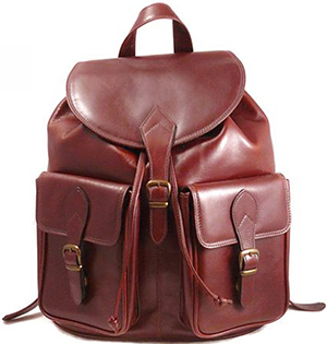 Sage Brown Light Tan Large Leather Rucksack: £289.