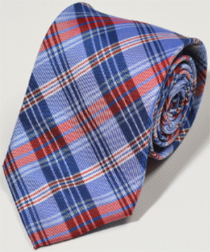 Gagliardi blue red tartan check tie: €29.