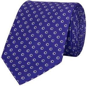Harvie & Hudson Purple Mini Daisy Foulard Tie: £29.50.