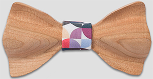 OwnOnly Quarter-Rounds Wooden Bow Tie: US$39.