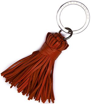 Pickett Men's Leather Thin Tassel Key Ring: £29.