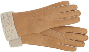 Mulberry Earl Grey Shearling Leather Women's Elegant Gloves: €290.
