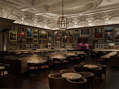 Berners Tavern, led by Michelin-starred Executive Chef Jason Atherton at The London Edition, 10 Berners St, London W1T 3NP, England.