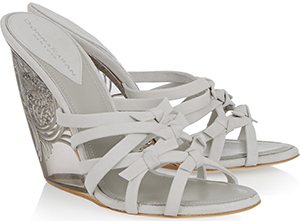 Donna Karan Tiberias suede and Perspex wedge sandals: £294.