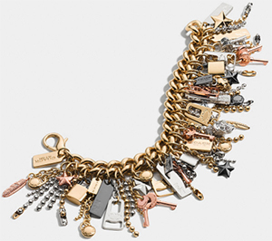 Coach Mixed women's metal icons curbchain bracelet: US$295.