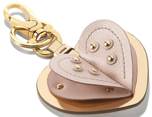 Salvatore Ferragmo Women's Key Rings in Embossed Calfskin: US$295.