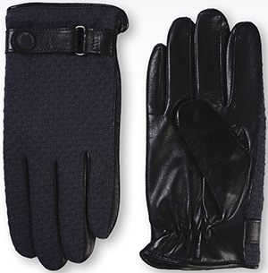 Emporio Armani Men's Glove in Napa Leather and Knit: US$295.