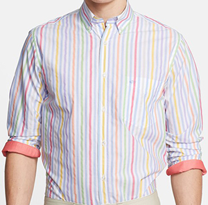 Paul & Shark Regular Fit Multi Stripe Sport Shirt: US$295.