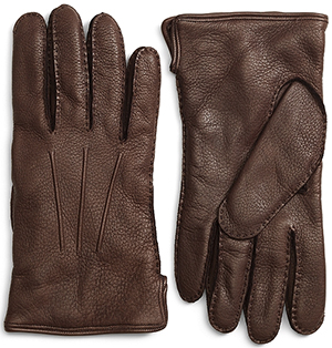 Brooks Brothers Deerskin Cashmere Lined Men's Gloves: US$298.