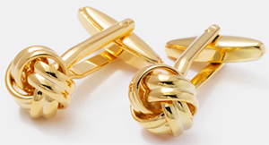 OwnOnly Gold Knot Cufflinks: US$29.