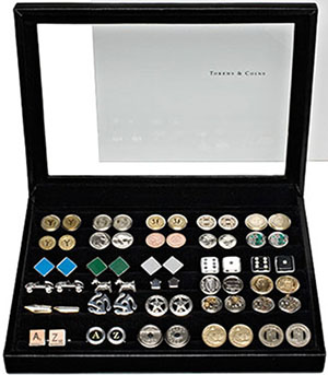 Tokens & Icons case for 30 pairs of cufflinks (cufflinks not included): US$135.