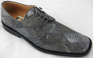 David Eden Crocolizard Patchwork mediumgray men's shoe.