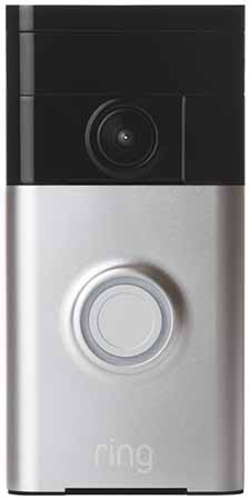 Ring Wi-Fi Enabled Video Doorbell in Satin Nickel: US99.99.