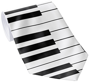 Keyboard / Piano Keys: Custom Necktie: US$31.95.