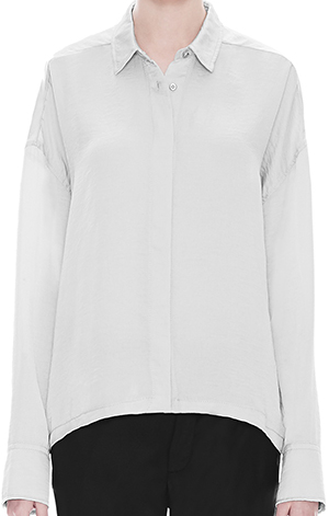 Helmut Lang Chroma Drape Slit Women's Shirt: US$310.