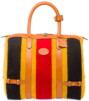 Church's Newmarket small witney wool yellow/red men's and women's bag: £325.