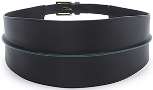 Maiyet Wide Elongated Patent women's belt: US$330.