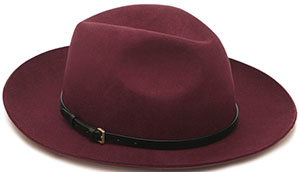 Mulberry Women's Oxblood Wool Felt Fedora Hat: €330.