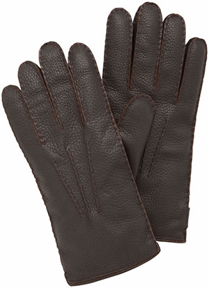 Mulberry Chocolate Deerskin Men's Day Gloves: €330.