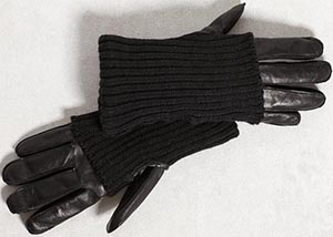 John Varvatos Nappa Knit Cased Men's Gloves: US$350.