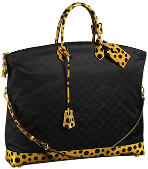 Yayoi Kusama for Louis Vuitton Monogram Nylon Dots Infinity Lockit GM Bag: US$3,650.