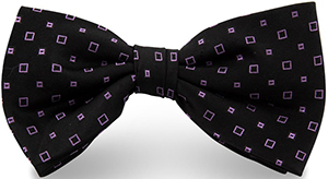 Eties bow tie with a dark background and micro-jacquard pattern: €37.