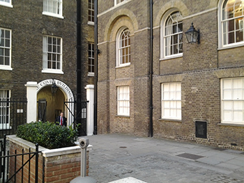 Mitre Court, Fleming's writing office location.