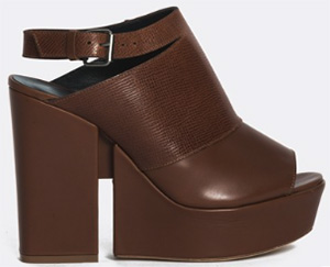 Façonnable women's leather platform sandal: US$425.