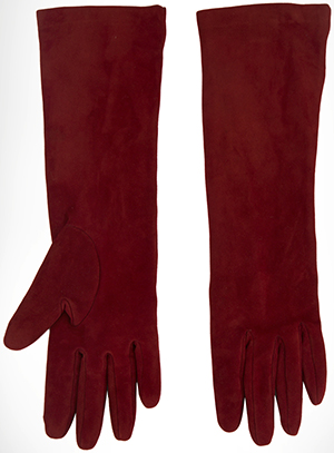 Ermanno Scervino Lined long suede women's gloves: US$435.