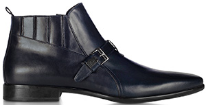 Forzieri Loriblu Blue Leather Bootie: US$435.