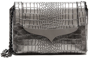 Alberto Guardini Shoulder Bag in Leather Stamped Crocodile Pattern: €351.