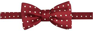 Harvie & Hudson Wine with White Classic Spot Bow Tie: £45.