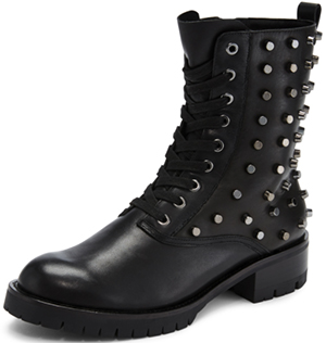 DKNY Melissa studded lace up boot: US$450.