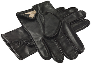 Roderick Charles Men's Black Leather Gloves: £49.