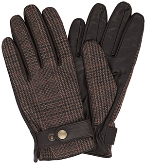 T.M.Lewin Men's Brown Tweed Gloves: £49.50.