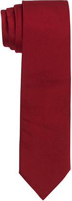 Roderick Charles Plain Red Silk Tie: £49.