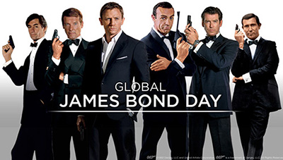 5th October is official Global James Bond Day - this date marks the anniversary of the release of DR. NO in 1962.