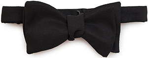 Emmett London Black Bow Tie (Self-Tied): £50.